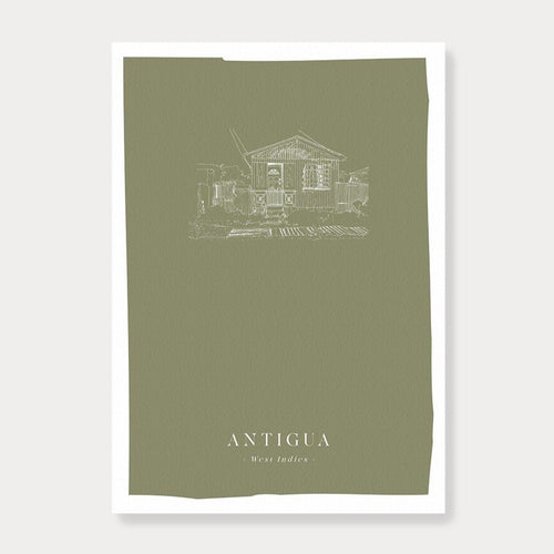 'Antigua' House Print-Fiona's Notes-Yard + Parish