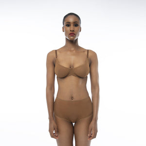 'Bintu' Wired Bra-Ownbrown-Yard + Parish