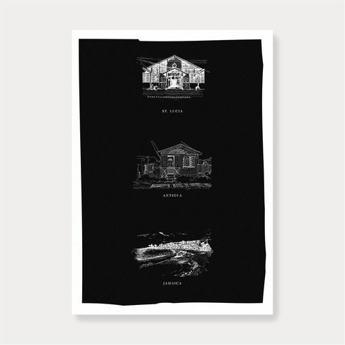 Caribbean Islands | Iconic Trio Print-Fiona's Notes-Yard + Parish