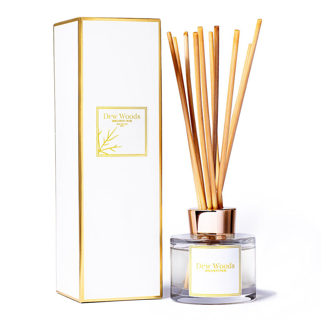 Bergamot + Musk - Reed Diffuser-Dew Woods-Yard + Parish
