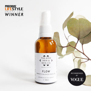 'Flow' Perfectly Balanced Facial Oil-The Afro Hair & Skin Co.-Yard + Parish