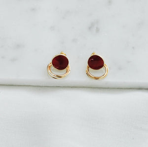 'Kira' Earrings - Wine