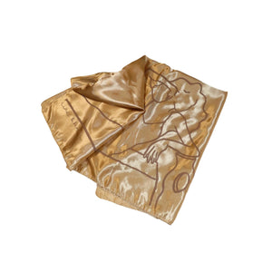 'Lounge' Satin Scarf-Line & Honey-Yard + Parish