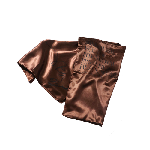 'Manifesto' Satin Scarf-Line & Honey-Yard + Parish