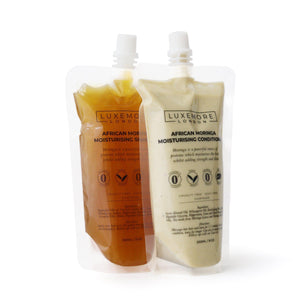 African Moringa Moisturising Shampoo + Conditioner Set-Luxemore London-Yard + Parish