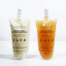 Load image into Gallery viewer, African Moringa Moisturising Shampoo + Conditioner Set-Luxemore London-Yard + Parish