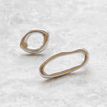 Load image into Gallery viewer, theta asymmetrical hoop earring