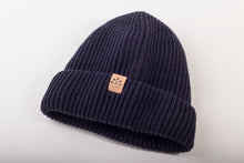 Load image into Gallery viewer, Satin-Lined Beanie | Deep Blue