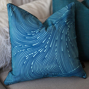 'Blue Wave' Cushion Cover-Established 25-Yard + Parish