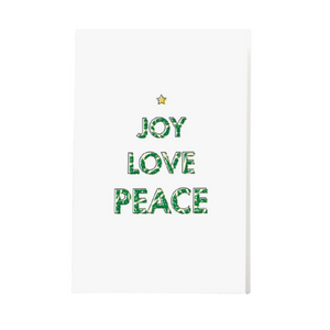 Joy Love Peace | Holiday Greeting Card