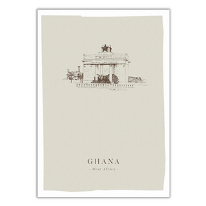 'Black Star Gate' | Ghana Print-Fiona's Notes-Yard + Parish