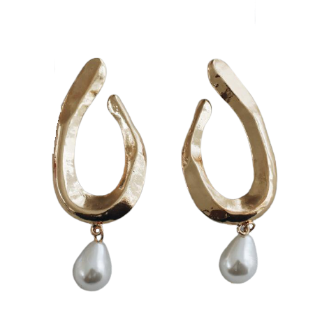 'Luna' Pearl Earrings-Anna Philip London-Yard + Parish