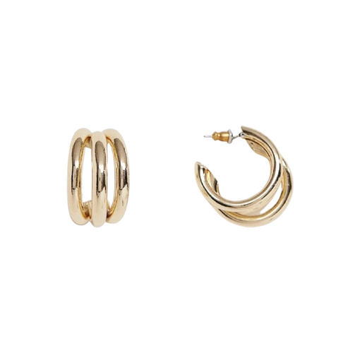 'Meta' Triple Hoop Earrings-Anna Philip London-Yard + Parish