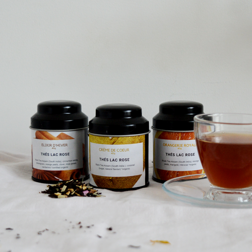 'Paris, Je T'aime' | Luxury Black Tea Trio-Thés Lac Rose-Yard + Parish