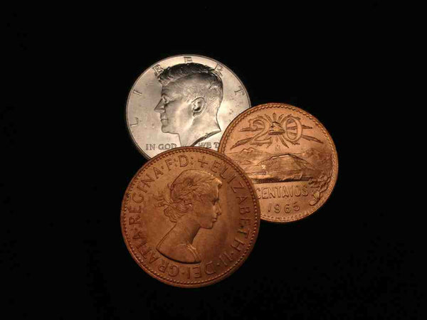 2 Copper 1 Silver 1964 Kennedy Set