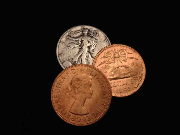 2 Copper 1 Silver Walking Liberty Set