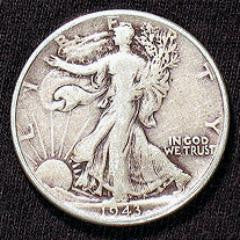 Expanded Shell - Walking Liberty Half