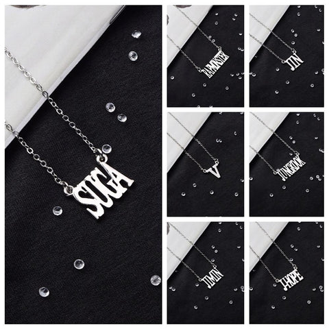 BTS Member Name Necklace