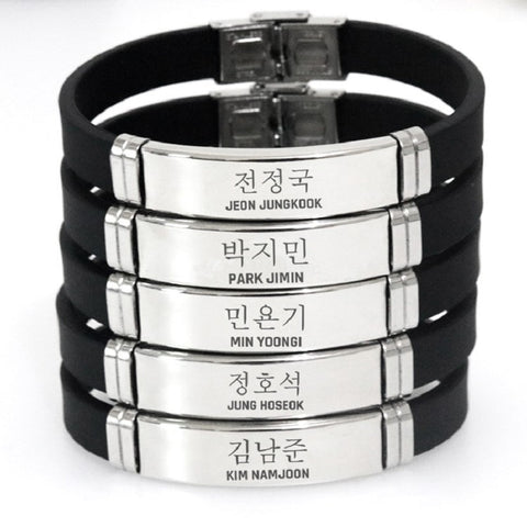 BTS Member Korean Name Bracelet