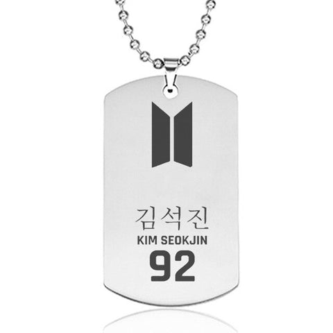 Jin BTS Army Style Stainless Steel Pendant Necklace