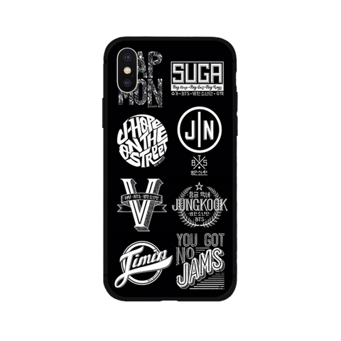 BTS Group Member Names Phone Case (iPhone)