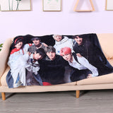BTS Ultra Soft Sofa Couch Fleece Throw Blanket