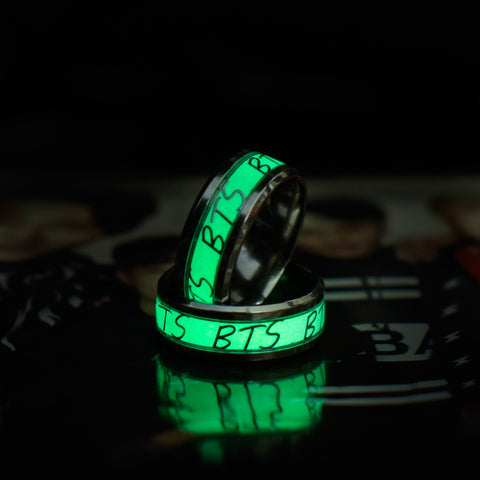 BTS Green Fluorescent Wristband