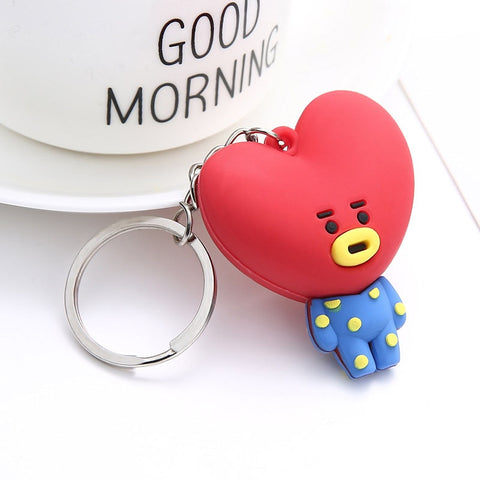 BT21 Silicon Character Keychain