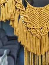 Load image into Gallery viewer, Mustard Yellow Macrame Garland Hanging
