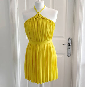 Yellow Frontal Cover Up Dress