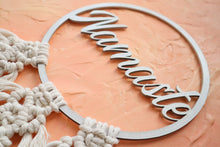 Load image into Gallery viewer, 'Namaste' Macrame Hoop Hanging