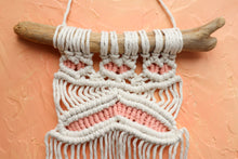 Load image into Gallery viewer, Small Macrame Wall Hanging - Woven Coral Pink