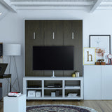 Queen Wall Bed with TV Stand