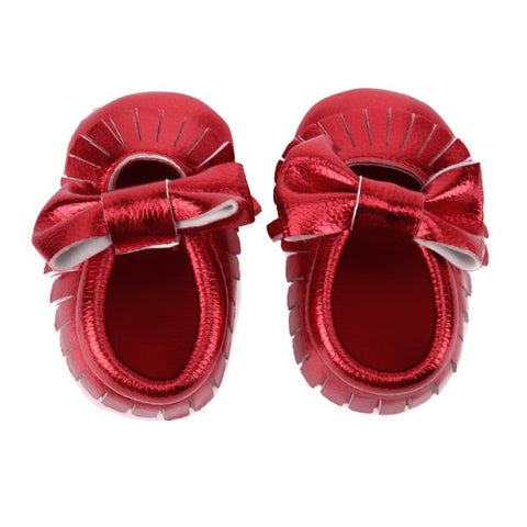 Baby Shoes Girl PU leather Tassel Sequin