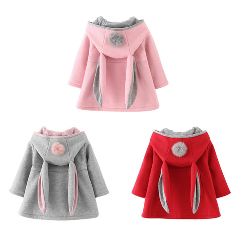 Winter Autumn Spring Baby Girls Cute Coat Jacket