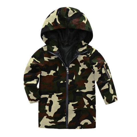 Boys Girls Camo Print Outerwear Spring