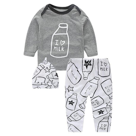 3pcs 3pcs Baby Boy Girl Long Sleeve T-Shirt