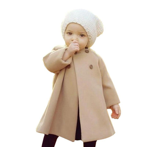 Newborn Baby Jackets Kids Long Windproof Coat