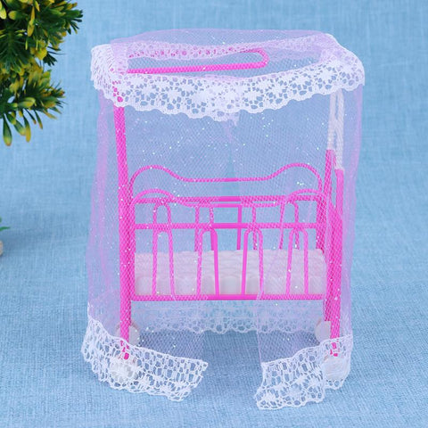 Pink Doll House For Dolls Small Bed Dolls