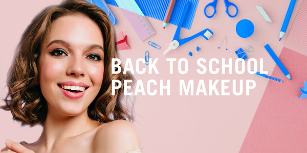 Makeup For School - Peach Eyeshadow Makeup Look