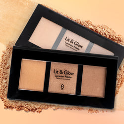 LIT AND GLOW LUMINIZER PALETTE - Sistar Cosmetics