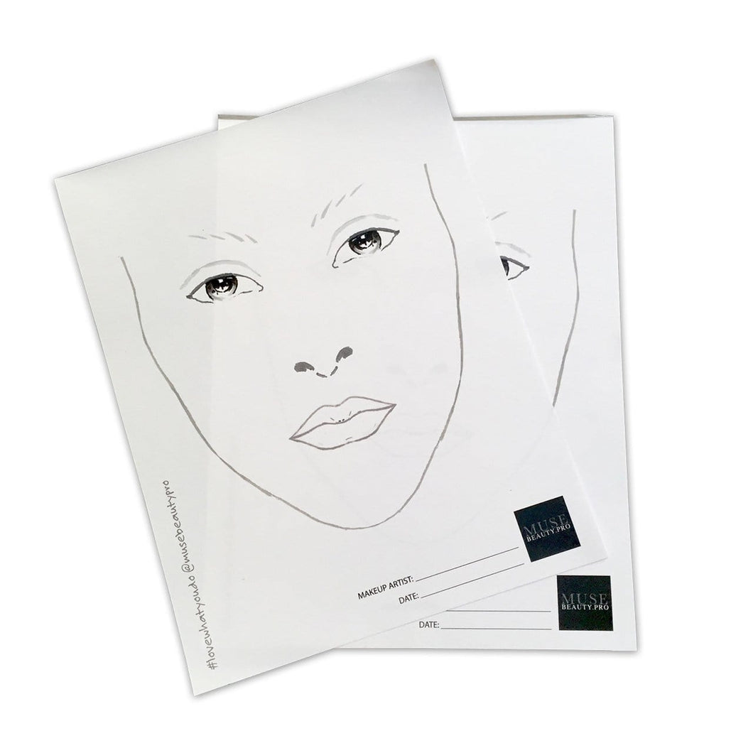 MUSE Beauty Pro Face Charts