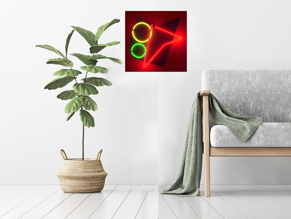 Abstract Neon Art Wall Hanging Sculpture Modern Unique Design FREE SHIPPING!