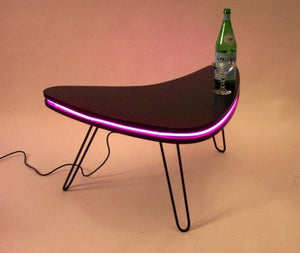 boomerang LED coffee table midcentury
