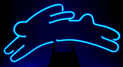 Neon Rabbit Bunny Easter Sculpture