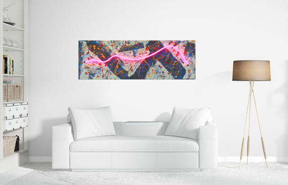 neon wall art on canvas