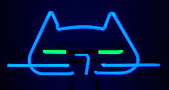 Cool Cat Neon Tabletop Freestanding Design Original Art Sculpture FREE SHIPPING!