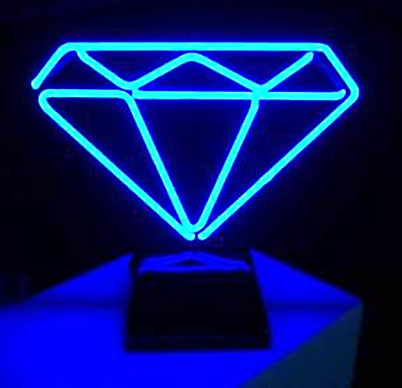 Diamond Neon Freestanding Art Sculpture FREE SHIPPING!