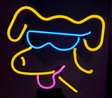 neon dog pooch sculpture