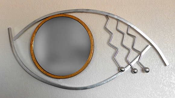 art deco eyeball wall mirror